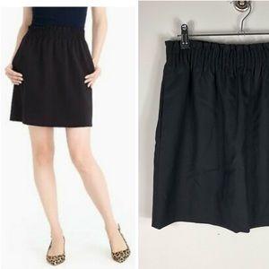 J. Crew Wool Sidewalk Skirt Black Mini Paper bag